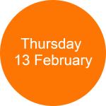 Thursday 13 February